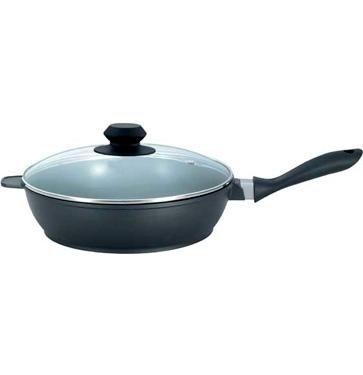 Сковорода литая с крышкой