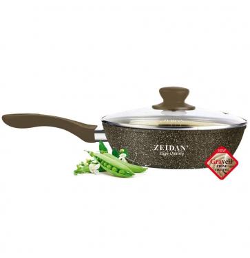 Глубокая сковорода с крышкой, Ø 28 см.